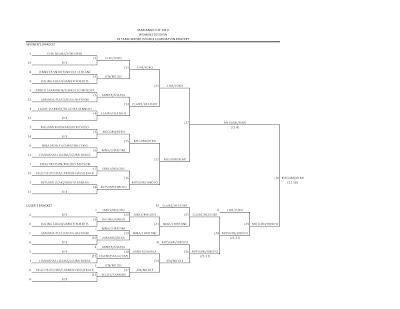 2010 Women's Division Double Elimination 16 Team Bracket